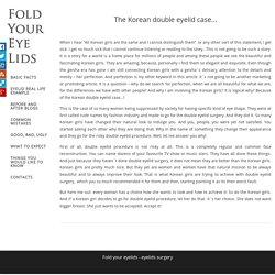 Fold your eyelids - eyelids surgery