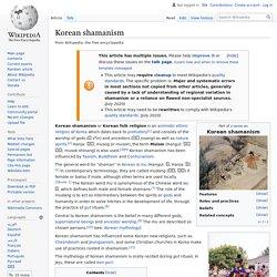 Korean shamanism - Wikipedia