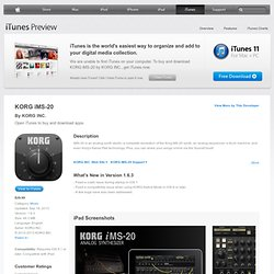 KORG iMS-20 for iPad on the iTunes App Store