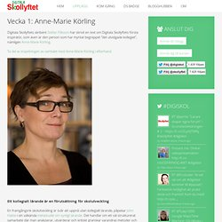 Vecka 1: Anne-Marie Körling