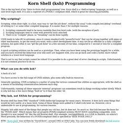 Korn Shell (ksh) Programming