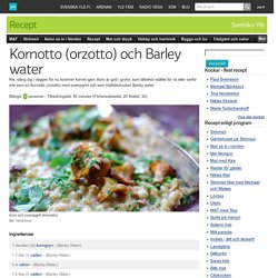 Kornotto (orzotto) och Barley water