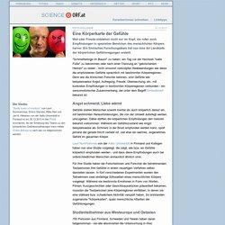Eine Körperkarte der Gefühle - science.ORF.at