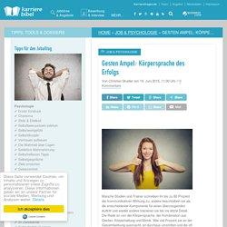 Gesten Ampel: Körpersprache des Erfolgs