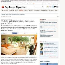 Erdhäuser in Günzburg: Teelicht und Körperwärme heizen das ganze Heim - Nachrichten Bayern