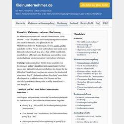 Korrekte Kleinunternehmer-Rechnung mit Rechnungspflichtangaben