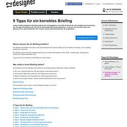 9 Tipps für ein korrekter Briefing - 12designer