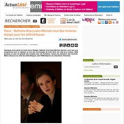 Paris : Nathalie Kosciusko-Morizet veut des horaires élargis pour les bibliothèques