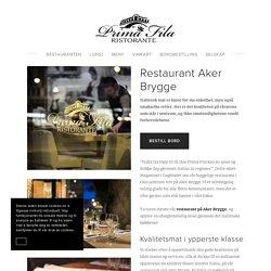 Koselig restaurant ved Aker Brygge — Prima Fila Ristorante