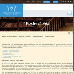 """Kosher"" Sex"