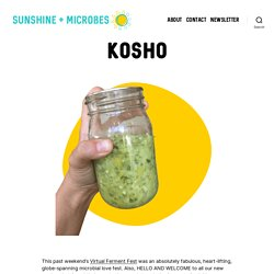 Kosho - sunshine + microbes