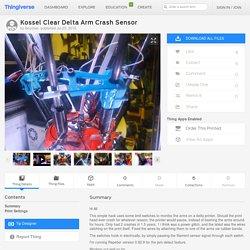 Kossel Clear Delta Arm Crash Sensor by lboucher