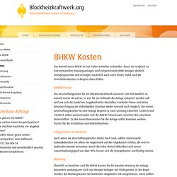 BHKW Kosten - Preise für ein Blockheizkraftwerk