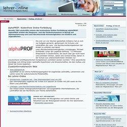 alphaPROF: Kostenfreie Online-Fortbildung