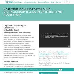 Kostenfreie Online-Fortbildung Digitales Storytelling mit Adobe Spark