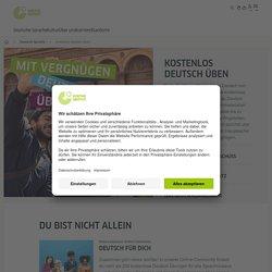 Kostenlos Deutsch üben