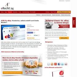 AGB für eBay: Kostenlos, selbst erstellt und Gratis Muster?