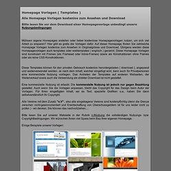 Alle Homepage Vorlagen kostenlos kostenlose Homepagevorlagen ( templates webseiten websites ) mit und ohne Frames, inline-frames, css - zum Download und Ansehen. Kostenlose eigene Homepages gratis erstellen.
