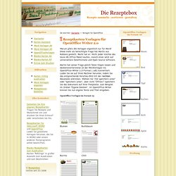 Kostenlose Rezeptkarten-Vorlagen für OpenOffice