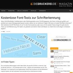 Kostenlose Font-Tools zur Schrifterkennung