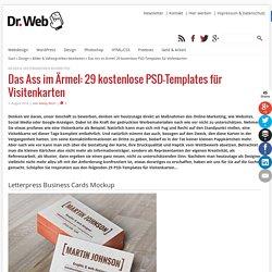 Das Ass im Ärmel: 29 kostenlose PSD-Templates für Visitenkarten