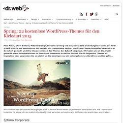 Spring: 22 kostenlose WordPress-Themes für den Kickstart 2015