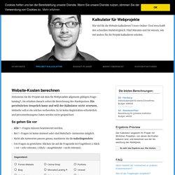 Website Kostenrechner zur Kalkulation des passenden Webbudgets @website-kosten.com
