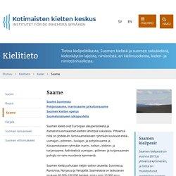 Saame - Kotimaisten kielten keskus