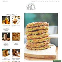 kotleciki z ciecierzycy i cukinii - zielony środek