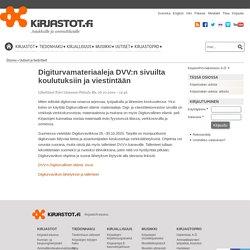 Digiturvamateriaaleja DVV:n sivuilta koulutuksiin ja viestintään
