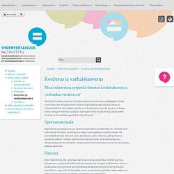 Koulutus ja varhaiskasvatus - Yhdenvertaisuusvaltuutettu