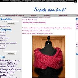 Koupaïa: col en jersey réversible