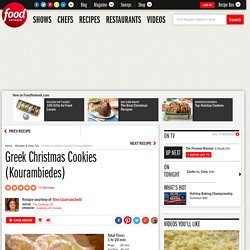 Greek Christmas Cookies (Kourambiedes) Recipe : Alex Guarnaschelli