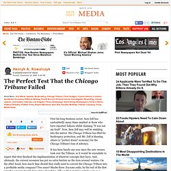 Henryk A. Kowalczyk: The Perfect Test That the Chicago Tribune F
