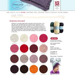 Kraemer Yarns: Our Yarn: Perfection Worsted