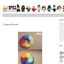 pompon over the rainbow