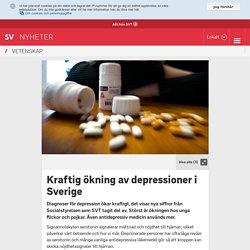 Kraftig ökning av depressioner i Sverige