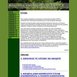 Krajinná ekologie - učebnice