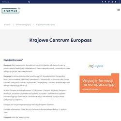Krajowe Centrum Europass - ERASMUS PLUS