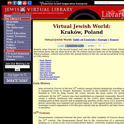 The Virtual Jewish History Tour - Cracow
