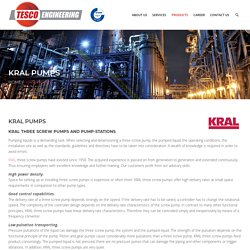 KRAL Pumps - Tesco Engineering