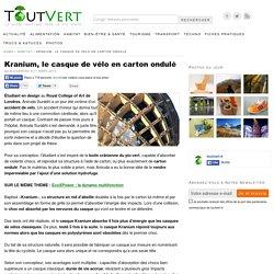 Kranium, le casque de vélo en carton ondulé