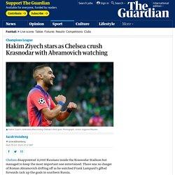 Hakim Ziyech stars as Chelsea crush Krasnodar with Abramovich watching