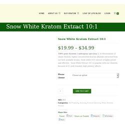 Snow White Kratom Extract 10:1