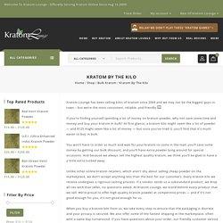 Buy Kratom Kilos Online from KratomLounge