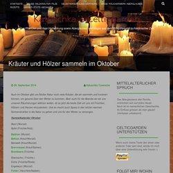 Kräuter und Hölzer sammeln im Oktober
