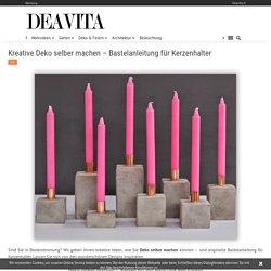 Kreative Deko selber machen - Kerzenhalter