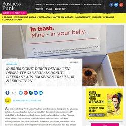 Kreativität zahlt sich aus: Dieser Typ gab sich als Donut-Lieferant aus, um einen begehrten Traumjob zu ergattern