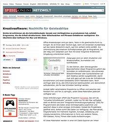 Kreativsoftware: Nachhilfe für Geistesblitze - Netzwelt - SPIEGEL ONLINE - Nachrichten