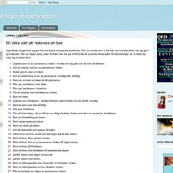 50 olika sätt att redovisa en bok